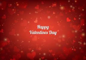 Free Vector Red San Valentin Card With Hearts And Lights