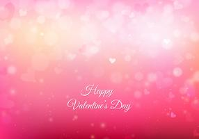 Free Vector Pink San Valentin Background With Lights And Hearts