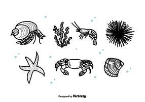 Sea Life Set Vector