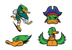 Free Ducks Mascot Vector