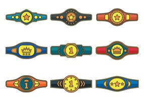 Championship Belt Vector Icons