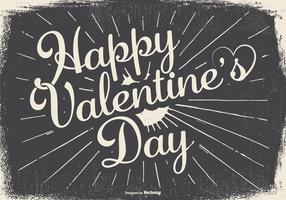 Vintage Typographic Happy Valentine's Day Illustration