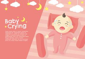 Crying Baby Peach Vector