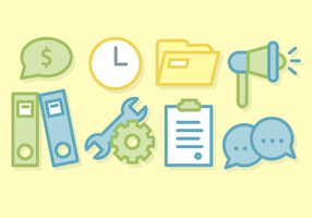 Business Office Elements Vector