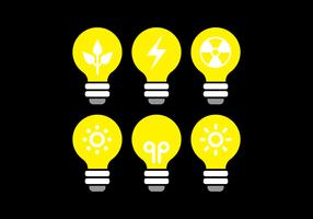 Ampoule Icon Vector Set