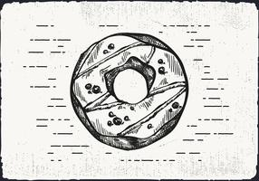 Free Hand Drawn Donut Background