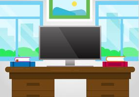 Free Designer's Desk Vector