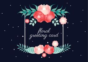 Free Vector Spring Flower Greeting Card