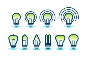 Ampoule Icon Set