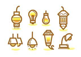 Ampoule Line Icon Set