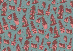 Chocolate Fountain Pattern Vector