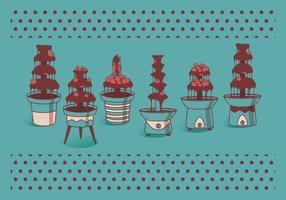 Chocolate Fountain Vectors