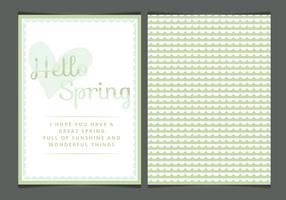 Vector Spring Greeting Card