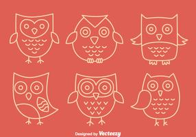 Hand Drawn Cute Owl Vectors