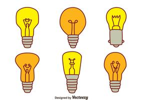 Hand Drawn Bulb Collection Vectors