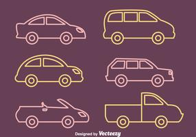 Car Outline Vectors Collection