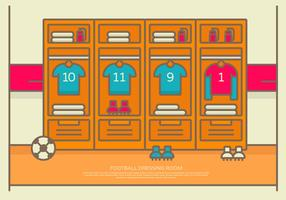 Vector Illustration Football Dressing Room