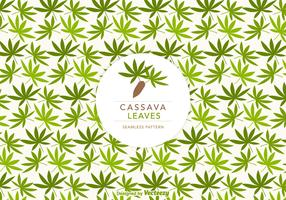 Cassava Leaves Vector Seamless Pattern