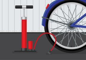Air Pump Bicycle Vector