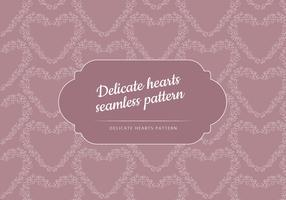 Vector Seamless Patter of a Delicate Heart