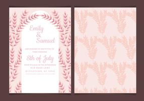Vector Wedding Invitation with Feminine Branches