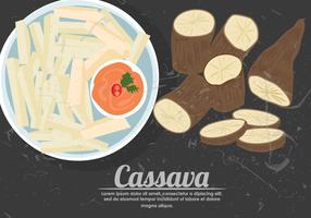 Fried Cassava Vector