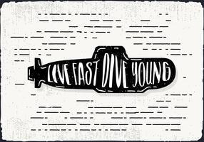 Free Hand Drawn Submarine Background