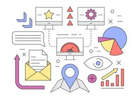 Set of Linear Business Icons