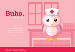Buho Nurse Character Vector