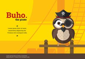 Buho Pirate Character Vector