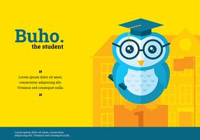 Buho Student Character Vector