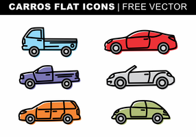 Carros Flat Icons Free Vector