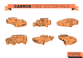 Orange Carros Free Vector Pack