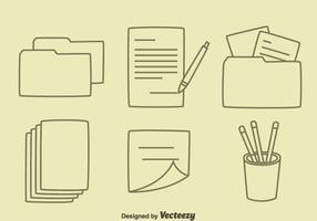 Hand drawn office Tool Vectors