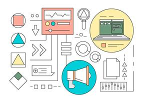 Free Minimal Designed Marketing Icons in Vector