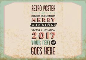 Vintage Marquee-Style Holiday Vector