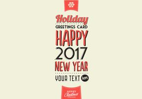 Wintery Holiday Greetings Card Vector