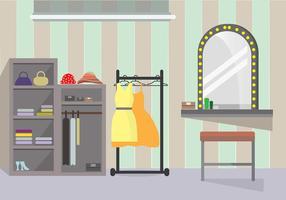 Dressing room girl vector