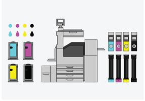 Cartridge Types And Copy Machine Vectors