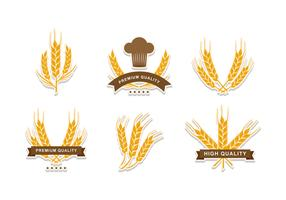 Wheat Stalk Element Vector Design