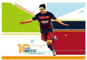 Lionel Messi Vector WPAP Portrait