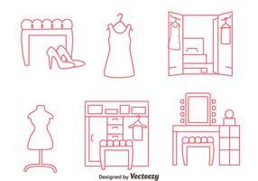 Dressing Room Line Vectors
