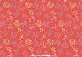 Line Flowers Pattern Vector