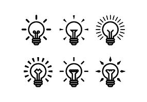 Bulbs Ampoule Vector Icon Set