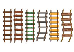 Rope ladder illustration vector set