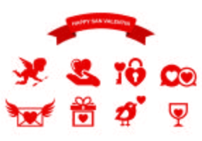 Icons Of Happy San Valentin