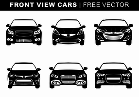 Front View Cars Free Vector