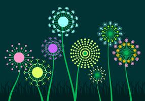 Free Colorful Blowball Vector