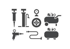Air pump and compressor icons