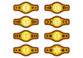 Set Of Championship Belt Vectors